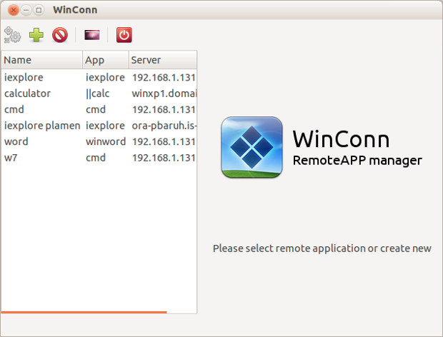 WinConn RemoteApp manager